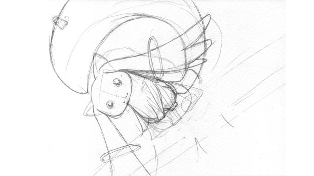 魔法少女まどか☆マギカ_キュゥべえ0001_下描き