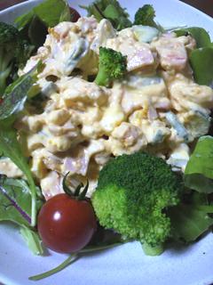 カボチャとポテトのサラダ