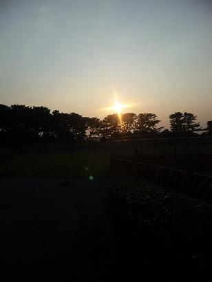 日の入り1014