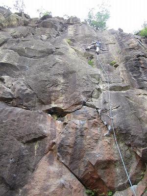 駒形岩クライミング