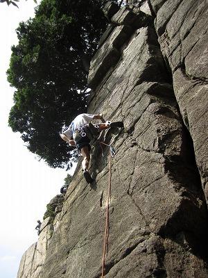 チビッコハング 堡塁岩クライミング