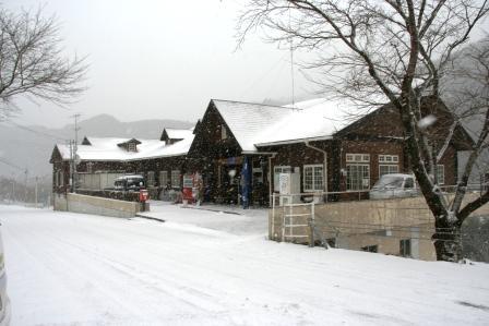 カヌー館 雪