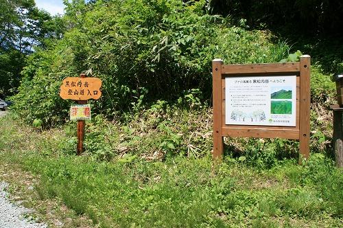 黒松内岳登山口110702p2