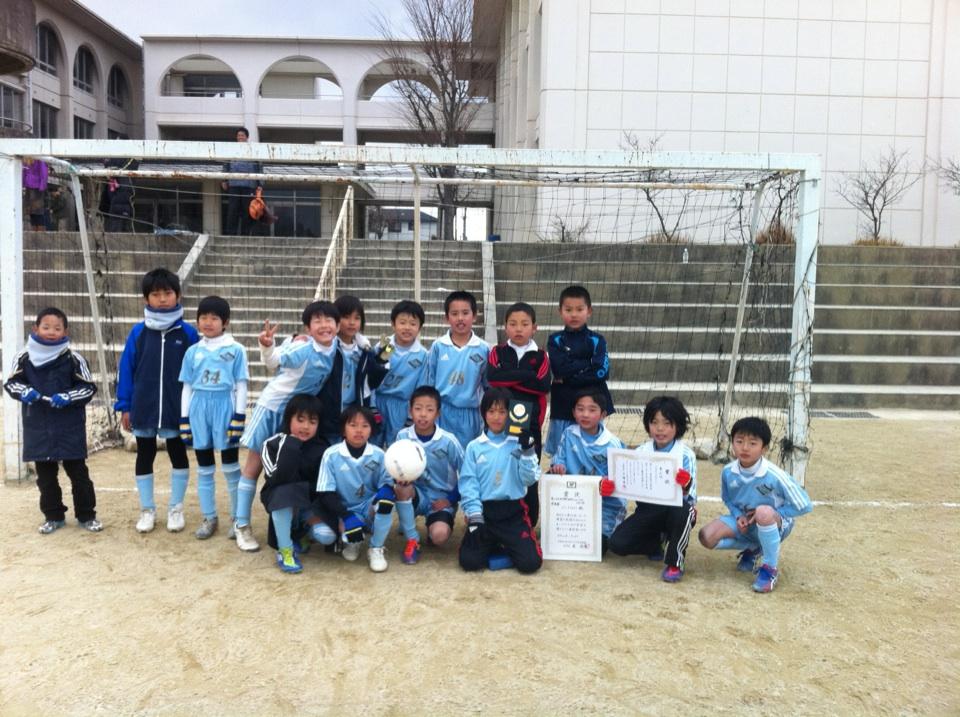 第21回木津川支部3年生招待サッカー大会 準優勝!