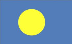 パラオ国旗中