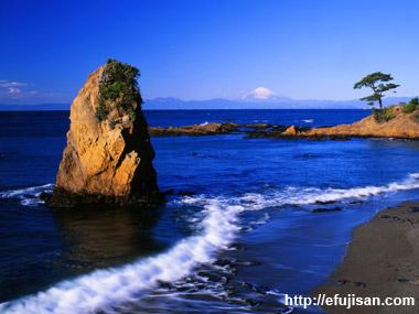 立石海岸富士