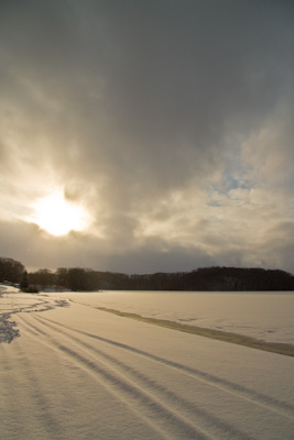 雪の午後  網走湖