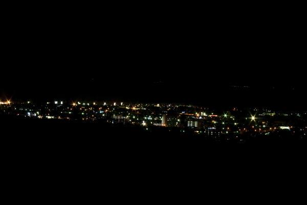 天都山からの夜景