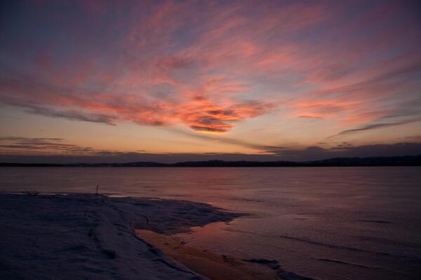 氷の湖 網走湖
