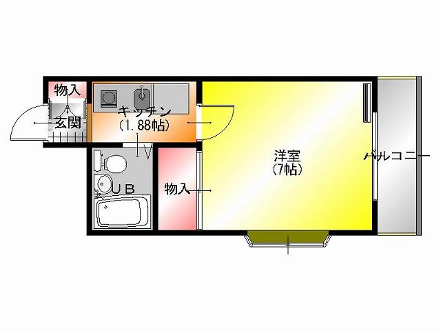 香ヶ丘1丁 賃貸マンション平面図