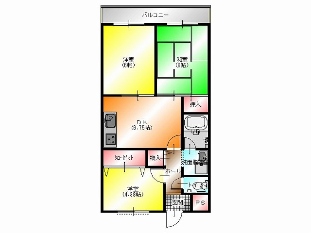 堺市中区深井水池町 マンション¥65,000(2) 平面図