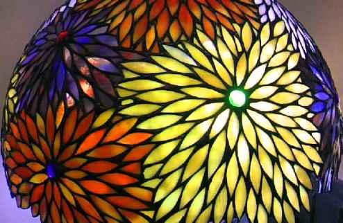 ステンドグラス~花。