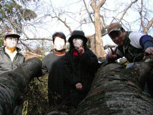 ケヤキ伐採~記念写真。