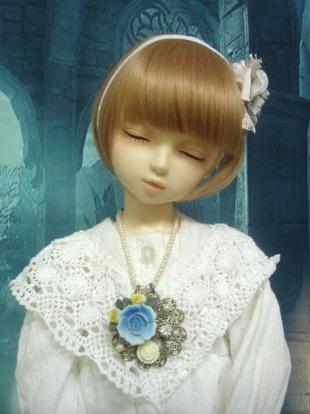 ビーズ_チャームド青薔薇1