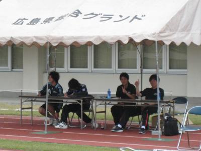 中国選手権2回戦 vs山口大学 2010/5/22/土「本部」