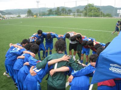 Iリーグ中国2010 vs徳山大(6/19/土)「円陣」