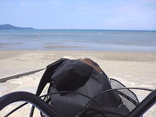 浜と自転車