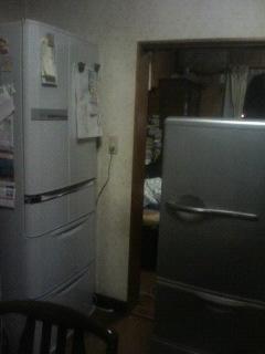 冷蔵庫が・・・