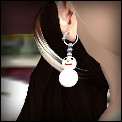 Snowman earring02