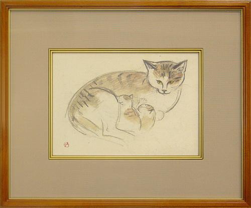 奥村土牛の猫   「猫」