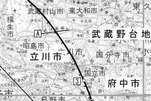 立川断層帯詳細図