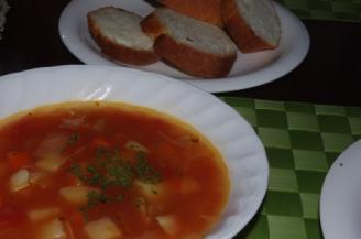 夕食スープ