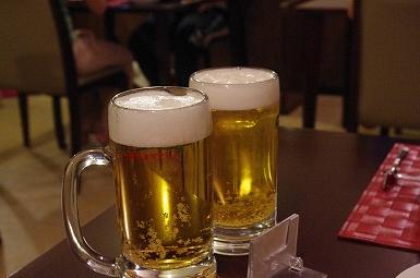 夕飯ビール8.28