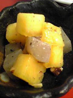 柿とこんにゃくのゆず味噌和え