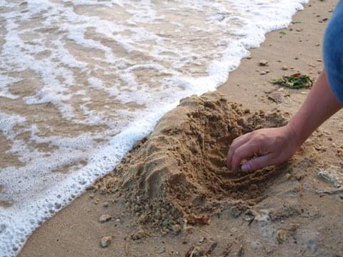 堤防を作るひと(2011.08.07)