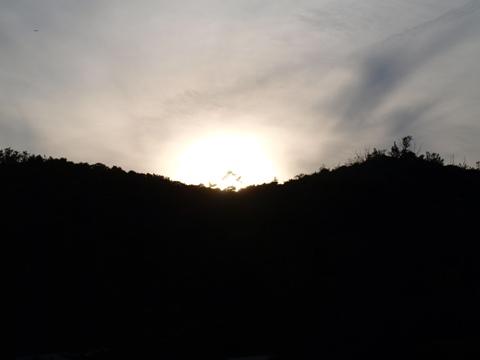 日の入り(2011.08.07)