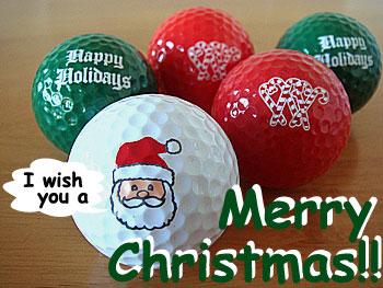 クリスマスのゴルフボール