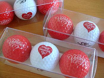 バレンタインゴルフボール