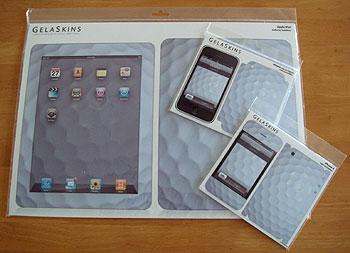 iPad、iPhone3G/3GS/4 ゴルフボール柄スキン!