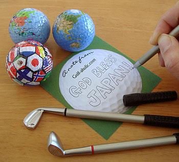 ゴルフクラブボールペン&地球儀ゴルフボール!