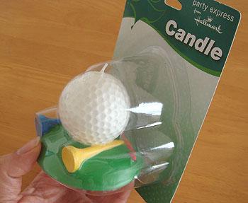 ゴルフボール型キャンドル