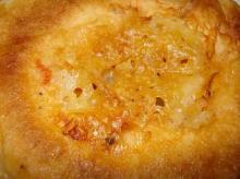 トマトバジル生地チェダーチーズ&ミックスチーズのダブルチーズ裏