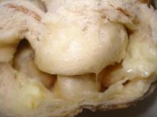 シナモン生地アップル、カスタード&ミックスチーズ断面