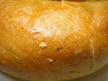 コーンミール生地ヒヨコマメ、カレースパイス&チェダーチーズ皮