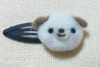羊毛フェルト わんこ
