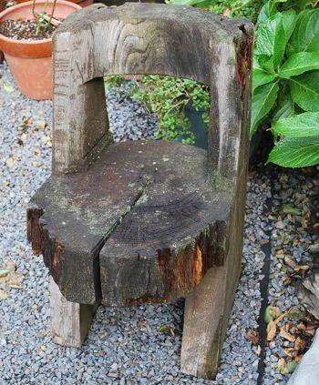 美山丸太椅子