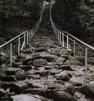 熊野磨崖仏石段