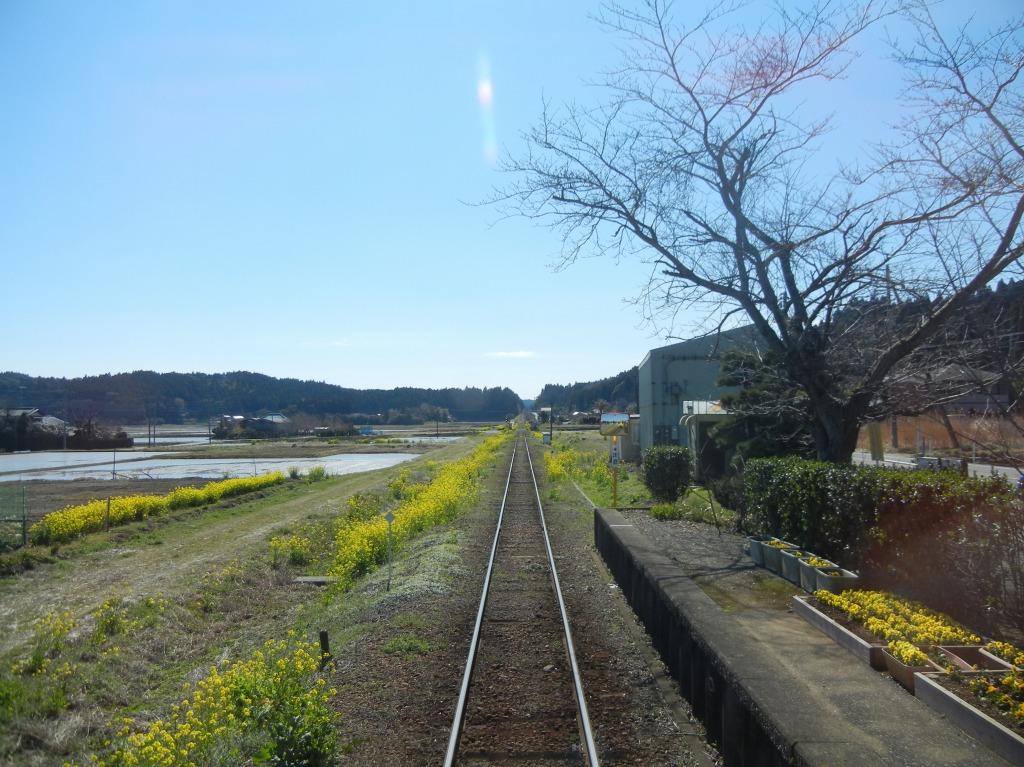 2011/3/27 新田野駅発車直後