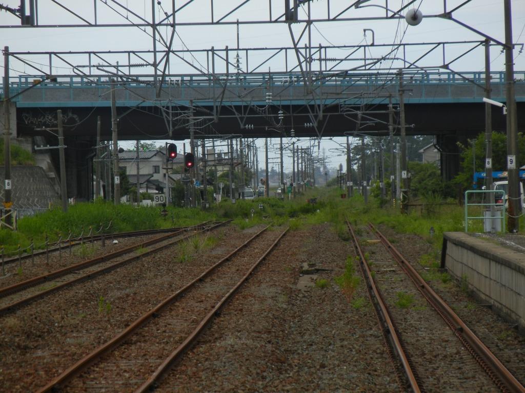 亘理駅から浜吉田方面を・・・