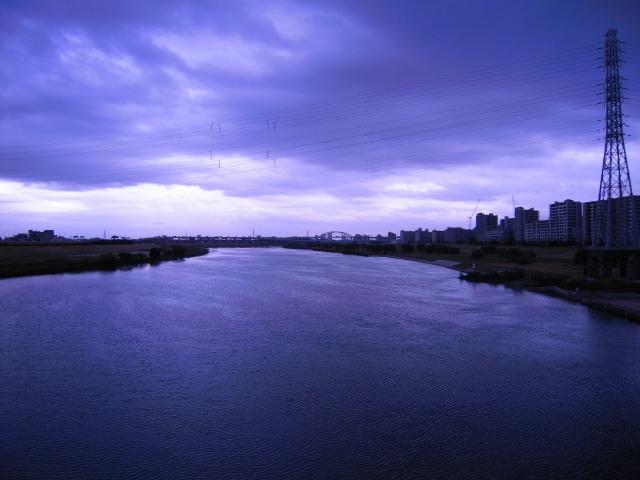 鹿浜橋にて