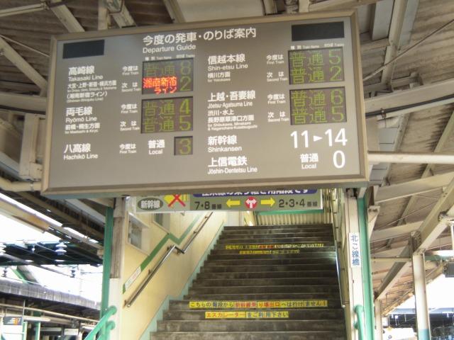 高崎駅の案内表示