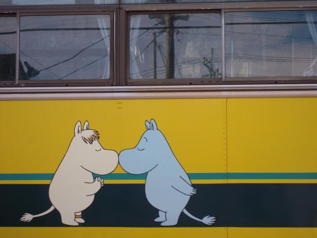 ムーミン列車(202号)の絵☆