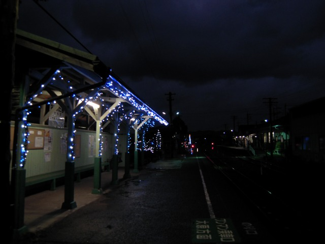 大多喜駅のイルミネーション(2009/12/05)