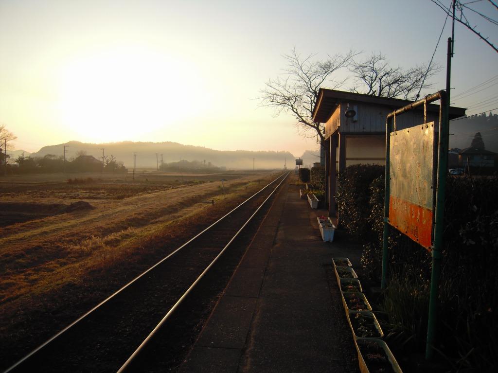 2010/01/31 新田野駅の朝