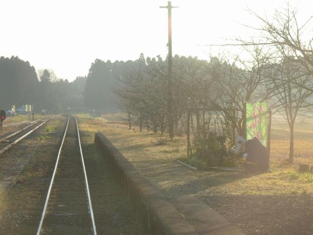 朝の国吉駅