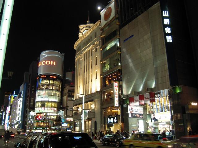 銀座にて(2010/02/18)